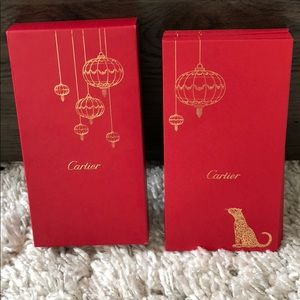 Cartier Lunar Year red envelopes in box